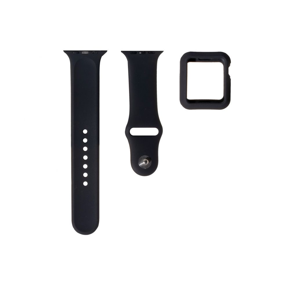 Ремешок для Apple Watch Band Silicone One-Piece + Protect Case 44mm ЦУ-00027822